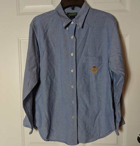 Lauren Ralph Lauren Other - Lauren Ralph Lauren Youth Blue Button Shirt sz 12